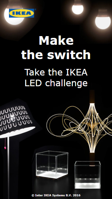 IKEA LED Challenge Mobile Preview