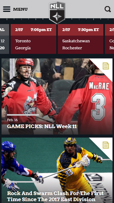 National Lacrosse League Mobile Preview